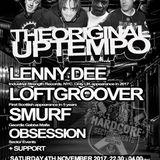DJ Smurf @ The Original Uptempo. Glasgow, Scotland 04/11/2017