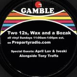 Two 12s Wax and a Bozak Show  2-19-17 Edition with Aril Luv, Iveski and Tony Troffa