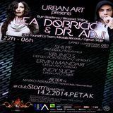 Dr.Adji @ Urban Art w/Lea Dobricic 14.02.2014 (Djakovo, CRO)