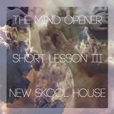 SHORT LESSON III : NEW SKOOL HOUSE
