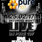 Dave Bolton - Saturday Night Live At The Crafty Chandler Live On Pure 107 25.02.2017