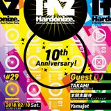 Hardonize #29 -10th Anniversary- at sabaco,Tokyo 10 February.2018