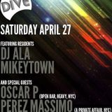 Perez Massimo LIVE at THE DIVE PARTY, San Diego, California. 4-27-13