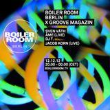 Sven Väth @ Boiler Room Berlin X Groove Magazin - Boiler Room Berlin - 12.12.2012