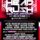 (FUNKY HOUSE) - HEADRUSH 13TH OCTOBER @ EPSILON (LEICESTER) @DEEJAYKLIPA