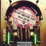 IN MY HOUSE Vol. 1 VINYL DJ SET  - NOVEMBRE 2018