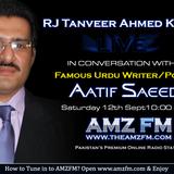 Poet Aatif Saeed Live Interviw with Rj Tanveer Ahmed Khan AMZFM