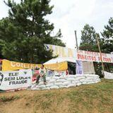Martín Zelaya, acampada de Lula  . Trazos - 05-06-18