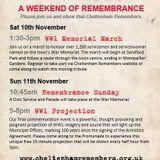 something a little bit different  - WWI Projection, Promenade Cheltenham - Sun 4 Nov 2018