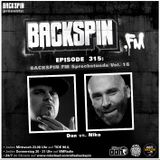 BACKSPIN FM # 315 - Sprechstunde Vol. 16