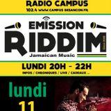 Emission RIDDIM 11 avril 2016 avec SCARS