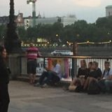Brilliant busker sings No More Drama and a Portuguese song on London's Southbank in June 2015