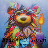 Bear with Torch