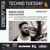 David Leese @ Techno Tuesday, Melkweg - Amsterdam (28-11-2017)