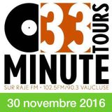 33 TOURS MINUTE - Le meilleur de la musique indé - 30 novembre 2016