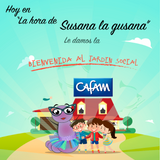 Susana la gusana presenta al jardín social CAFAM. Cuentos, música y más...