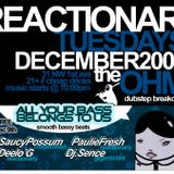 DJ SENCE - live set from REACTIONARY TUESDAY - PDX - 12-09-2008