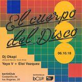 Dj Okapi at El cuerpo del Disco (berlínClub, Madrid)