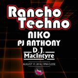 Niko - Live at Rancho Techno - August 2016