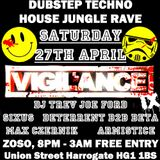 Vigilance 10, guest mix from Deterrent & Beta, + Dj Trev Gabber Set, originally broadcast 21/04/13