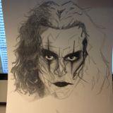 PP Drawcast 1 - The Crow portrait pt.2