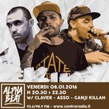 Alpha Beat #12 w/ Claver & Ganji Killah - 08.01.2016