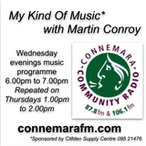 Connemara Community Radio - 'My Kind Of Music' with Martin Conroy - 4april2018