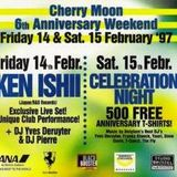 """Fly & T-Quest at """"6th Anniversary - Celebration Night"""" @ Cherry Moon (Lokeren) - 15 February 1997"""