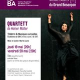 """A la croisée des chemins, d'Alex Mathiot - Marie LLano du CRR pour """"Quartett"""" d'H. Muller à l'ISBA"""