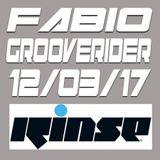 FABIO & GROOVERIDER @ RINSE FM 12/03/17