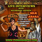 SILK ASARA'S LIVE INTERVIEW WITH DJ JAMMY ON ZIONHIGHNESS RADIO 031114