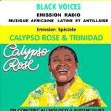 BLACK VOICES émission spéciale CALYPSO ROSE  & TRINIDAD sur RADIO DECIBEL FM (Lot) novembre 2016