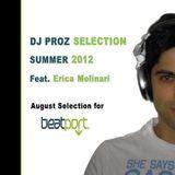 Alessandro Prosperini aka Dj Proz feat. Erica Molinari - DJ PROZ SELECTION Summer 2012 (August)
