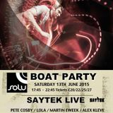 Pete Cosby // Live @ SOLU Boat Party 13.06.2015