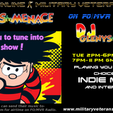 The Menace's Tuesday 17th October 4 hr Indie show with lots of fantastic indie music