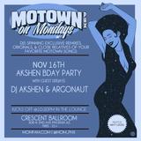 LIVE DJ ARGONAUT SET @ MOTOWN ON MONDAYS 11/16/2015 CRESCENT BALLROOM PHOENIX