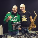 Syntheticsax & Dj Denis Polyakoff - Live from radio station Megapolis FM Moscow