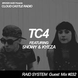 'CLOUD CASTLE RADIO' x 'RAID SYSTEM' Guest Mix #032: TC4 with SNOWY & KYEZA