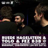 Ruede Hagelstein & Tolo & FeZ b3b @ Watergate 13 Release Party (Budapest, Corvintető, 24-05-2013)