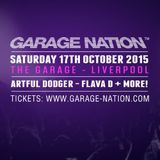 Live @ Garage Nation Saturday 17th October 2015 at The Garage, Liverpool