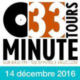 33 TOURS MINUTE - Le meilleur de la musique indé - 14 décembre 2016