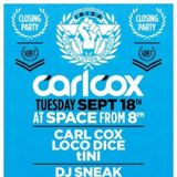 Carl Cox b2b Loco Dice - The Revolution Recruits - Space Ibiza - 18-09-2012