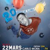 2013-03-22 Carlo Mora - 20 ans de mix @ Garden 1/4