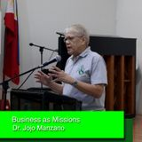 Business as Missions - Dr. Jojo Manzano