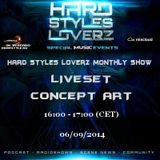 Concept Art  - Hard Styles Loverz Monthly Show - Hardstyle.nu - Saturday 06 September 2014