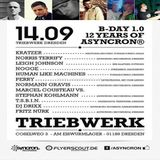 Perry @ B-Day 1.0-12 Years Of Asyncron - Triebwerk Dresden - 14.09.2013