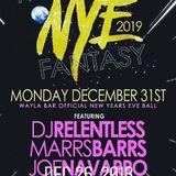 LIVE @ NYE 2019 MIDNIGHT FANTASY DEEP & DISCO PARLOUR ROOM (12-2 AM SET WAYLA BAR)