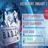 Kunique Badj January 02-2013 On Air Ricky Castelli - Ricky Guarneri - Mike Dem