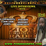 IBEL LIVE INTERVIEW WITH DJ JAMMY ON ZIONHIGHNESS RADIO 013018