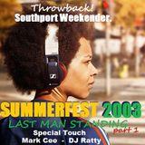 LIVE RECORDING: SOUTHPORT WEEKENDER 'SUMMERFEST' (Deja Vu room) Last Man standing; Part 1